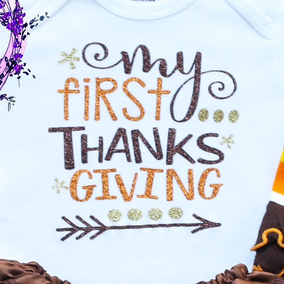 My First Thanksgiving Baby Tutu Outfit