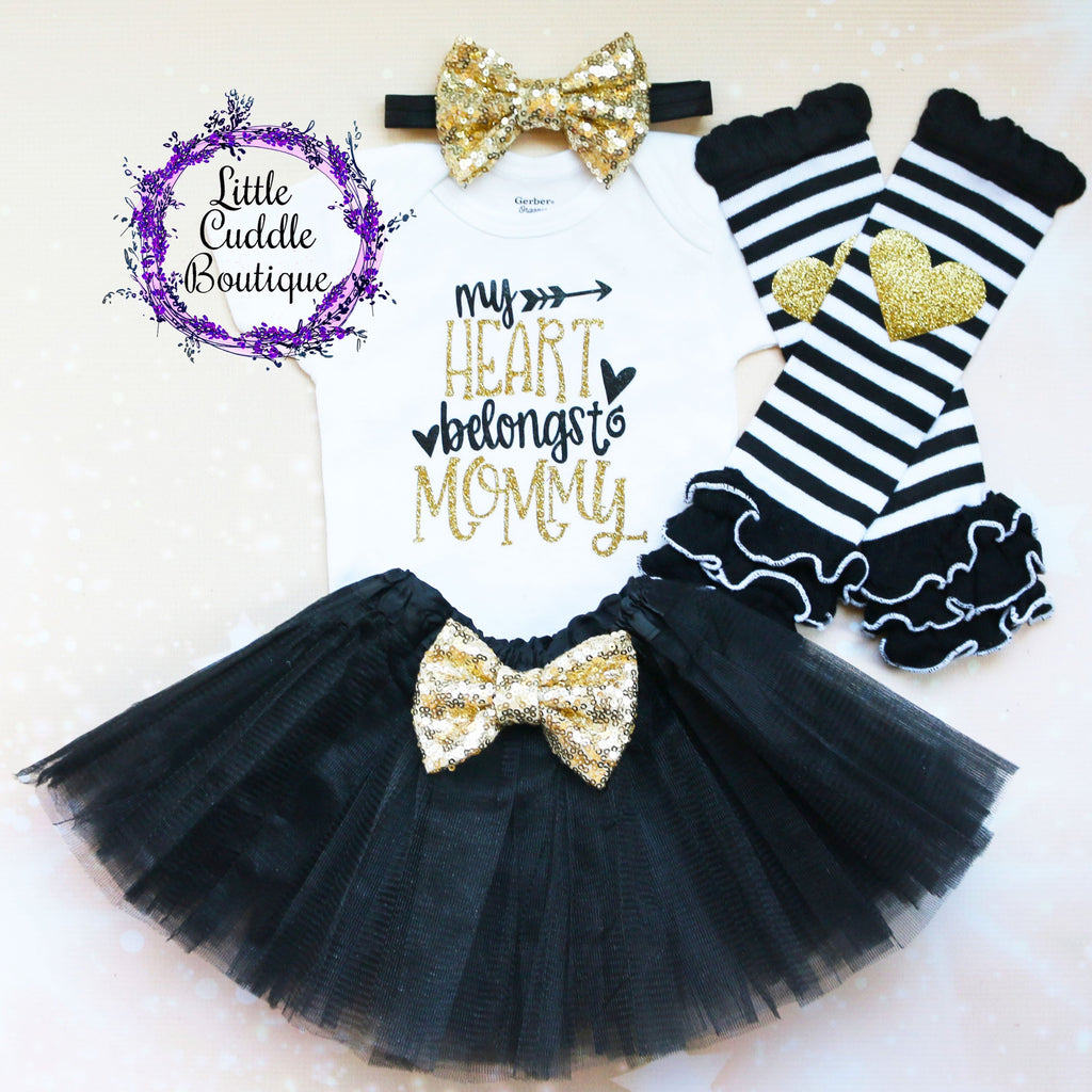 My Heart Belongs To Mommy Baby Tutu Outfit