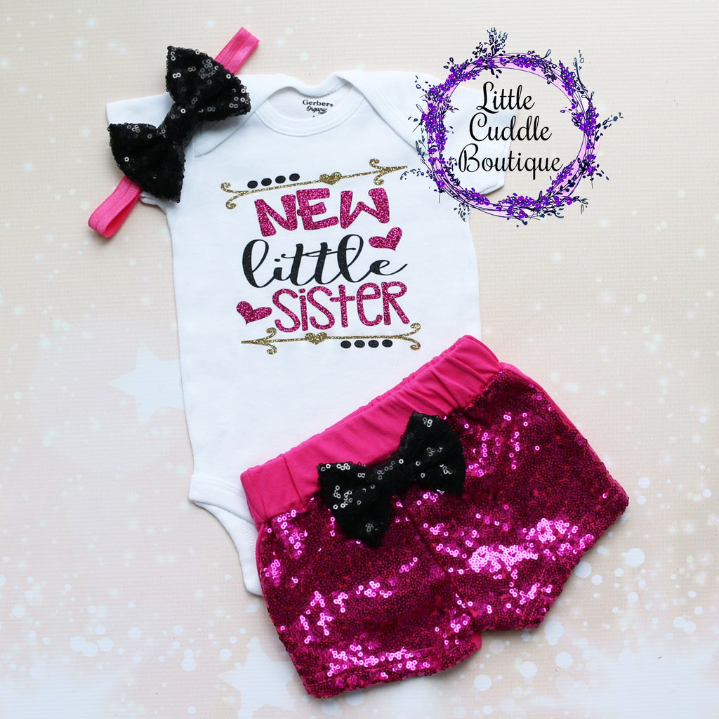 Little Sister Baby Shorts Outfit