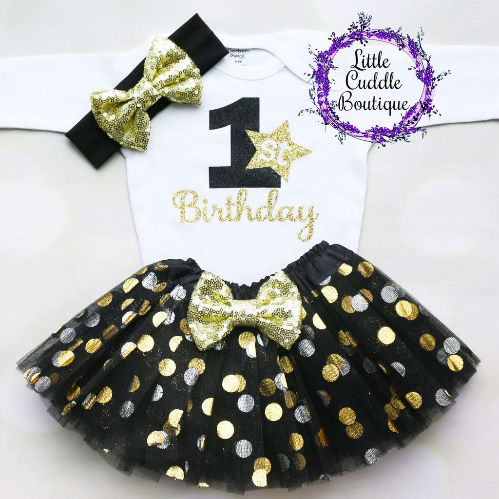 New Year's First Birthday Tutu Outfit