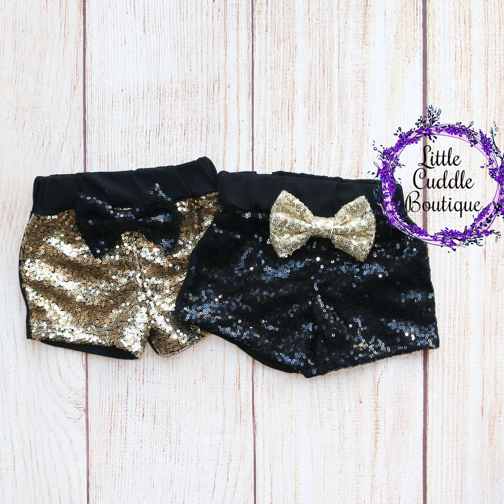 New Year's Baby Sequin Shorts
