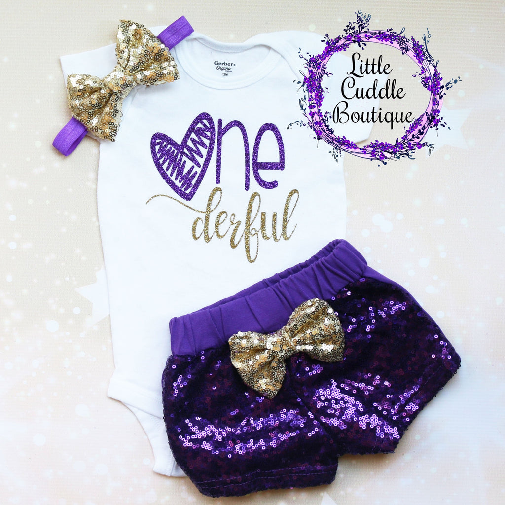 Onederful Baby Shorts Outfit