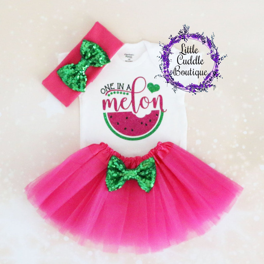 One In A Melon Baby Tutu Outfit