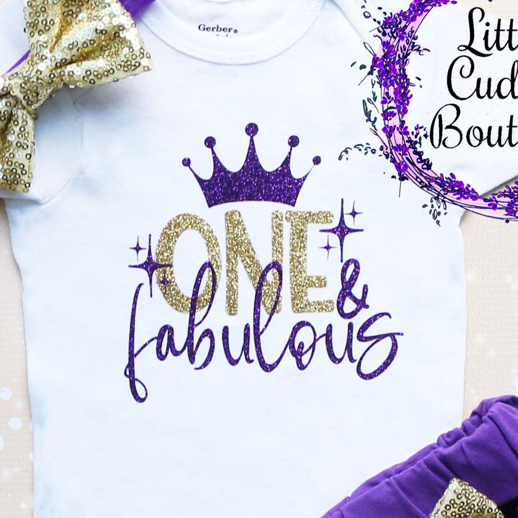 One & Fabulous Baby Shorts Outfit