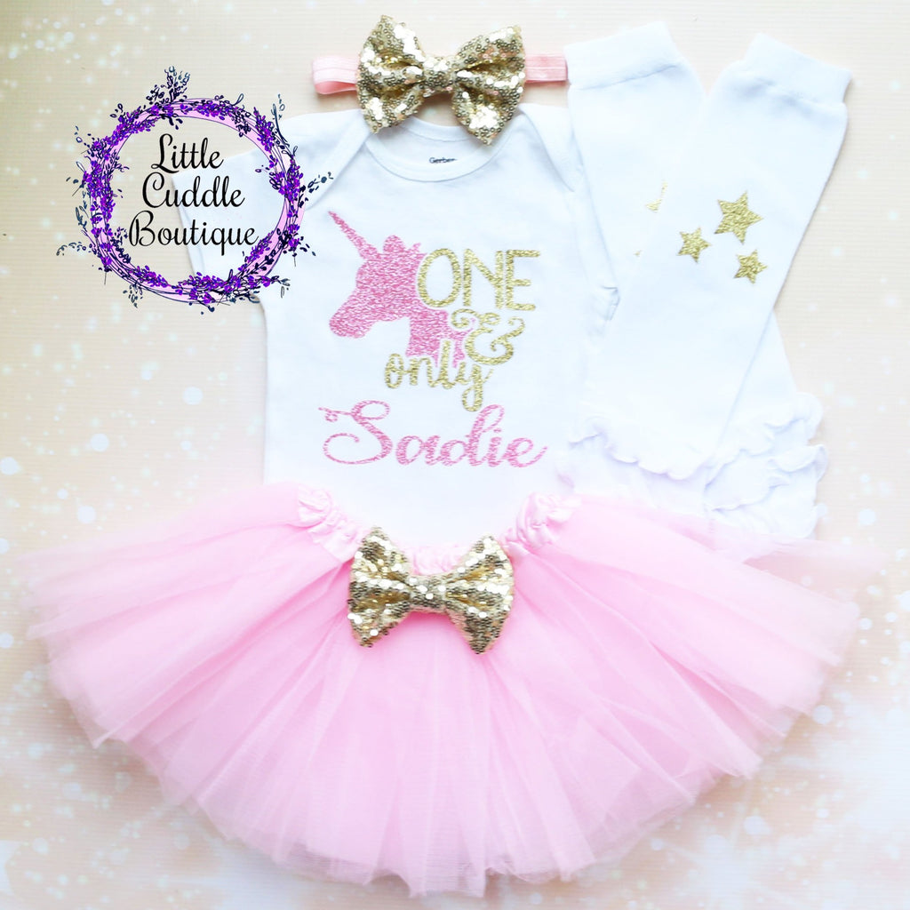 Personalized One & Only First Birthday Tutu Outfit