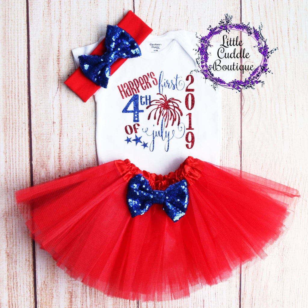 e2b5a0c3f Personalized First 4th of July Tutu Outfit