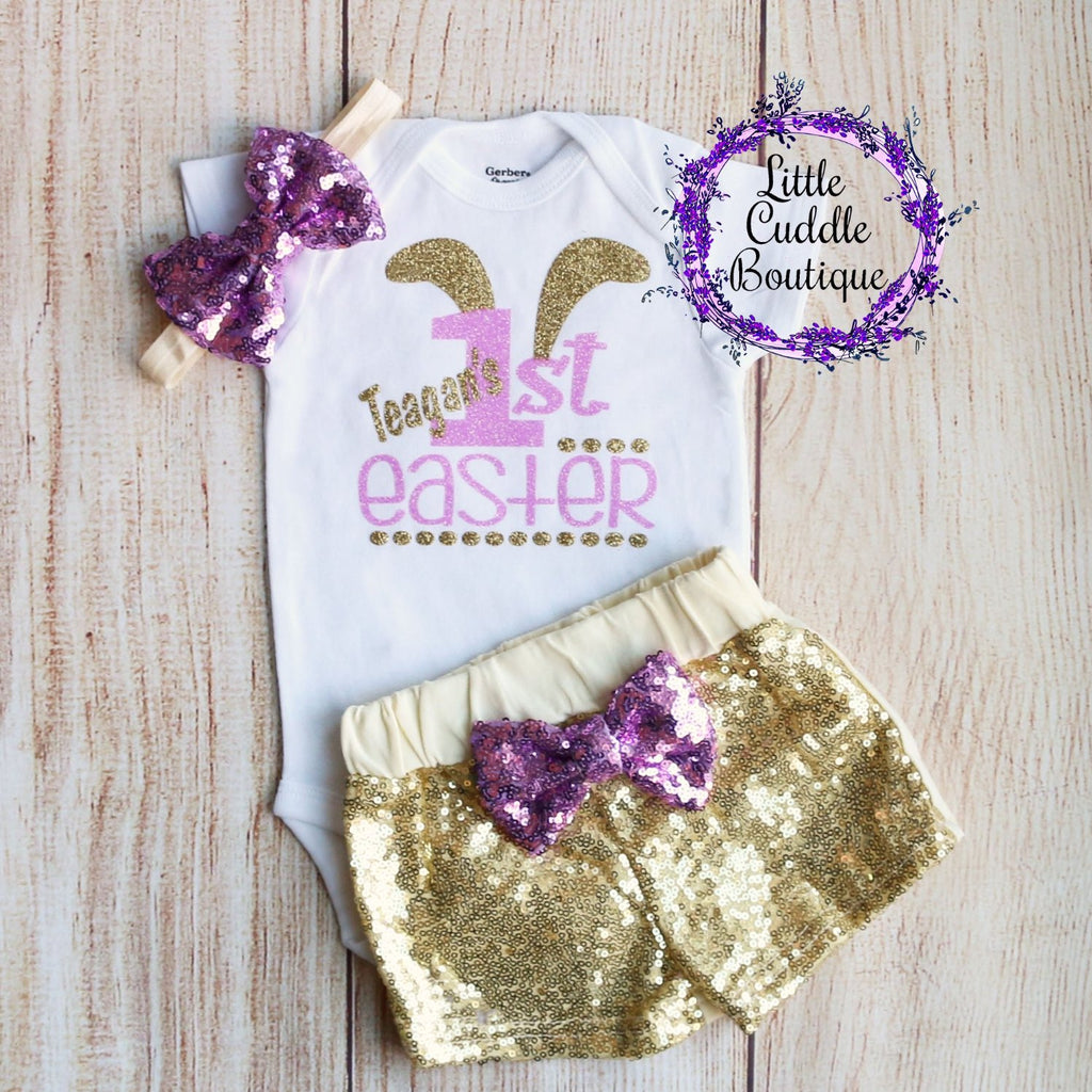Personalized First Easter Shorts Outfit