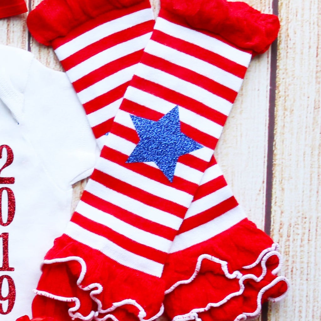 Personalized First 4th of July Baby Tutu Outfit