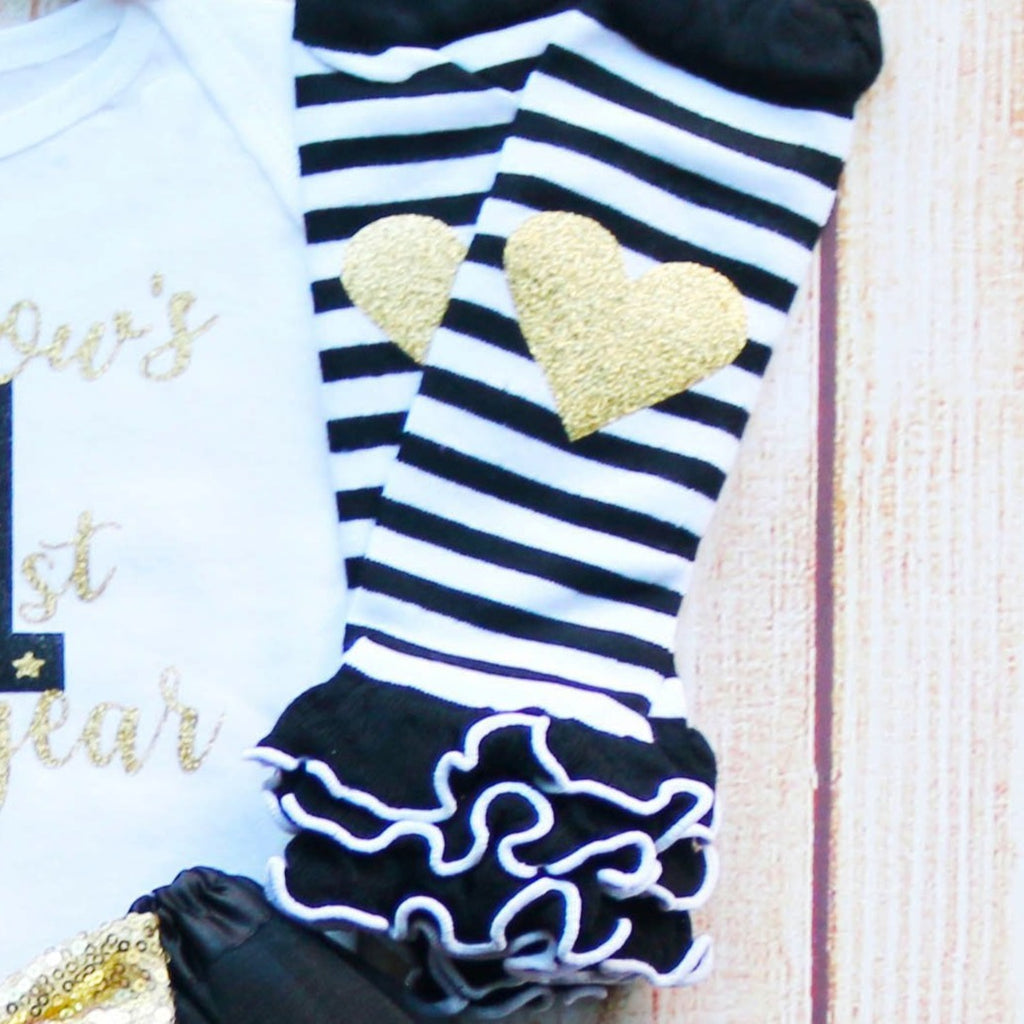 Personalized First New Year's Baby Tutu Outfit