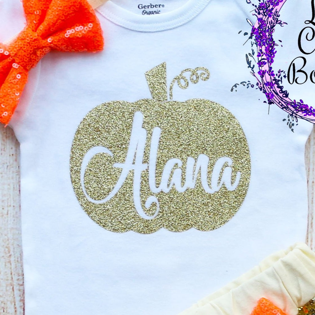 Personalized Pumpkin Halloween Outfit