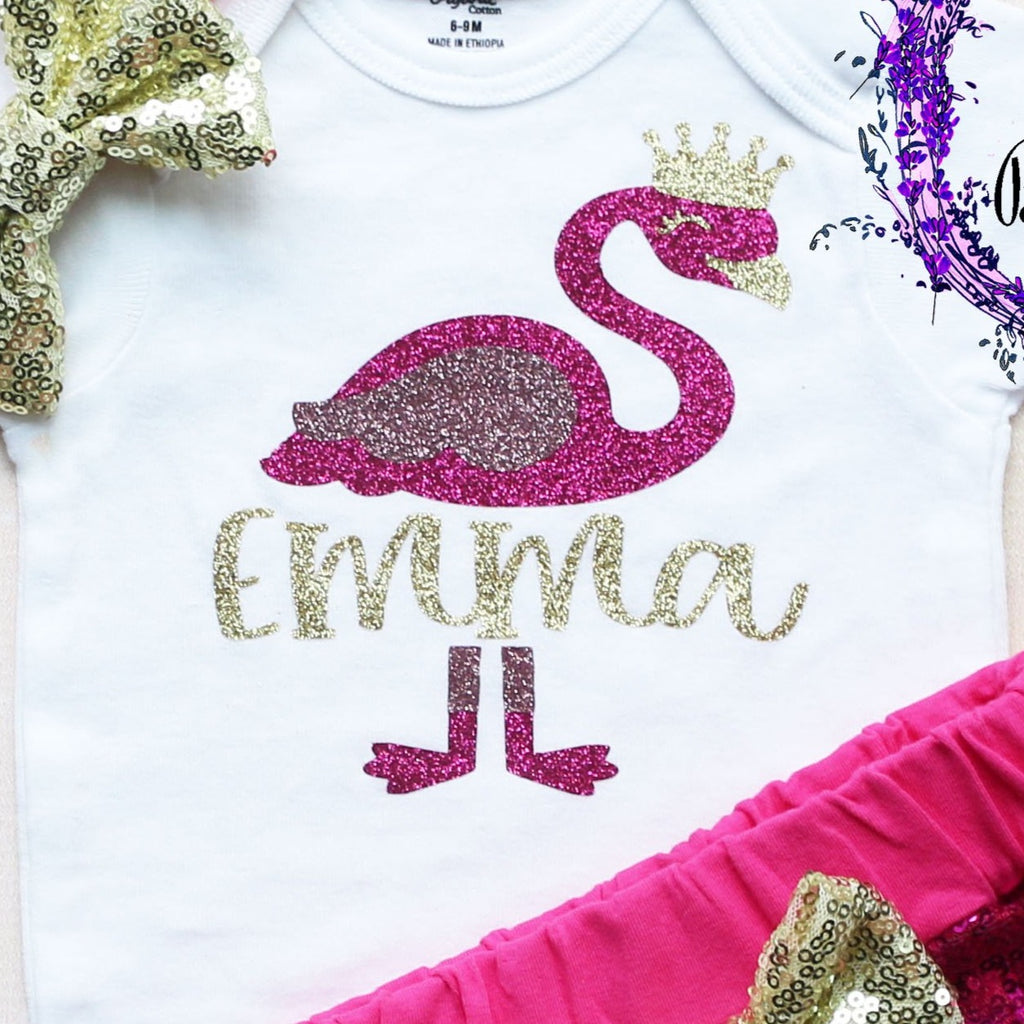 Personalized Flamingo Shorts Outfit