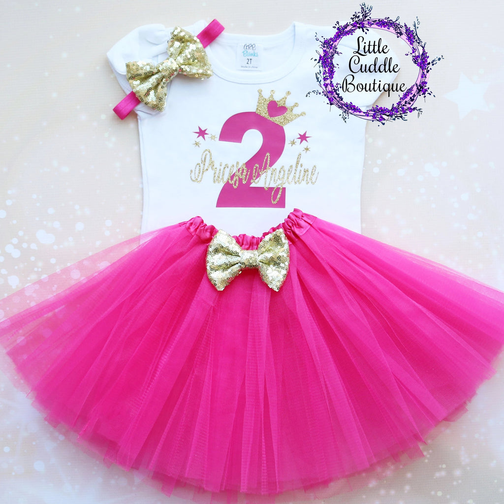 Personalized Toddler Princess Birthday Tutu Outfit