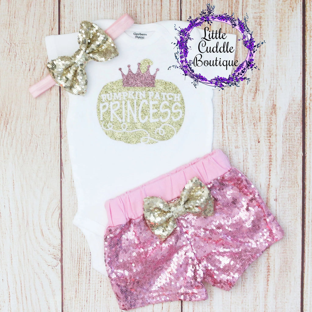 Pumpkin Patch Princess Shorts Outfit