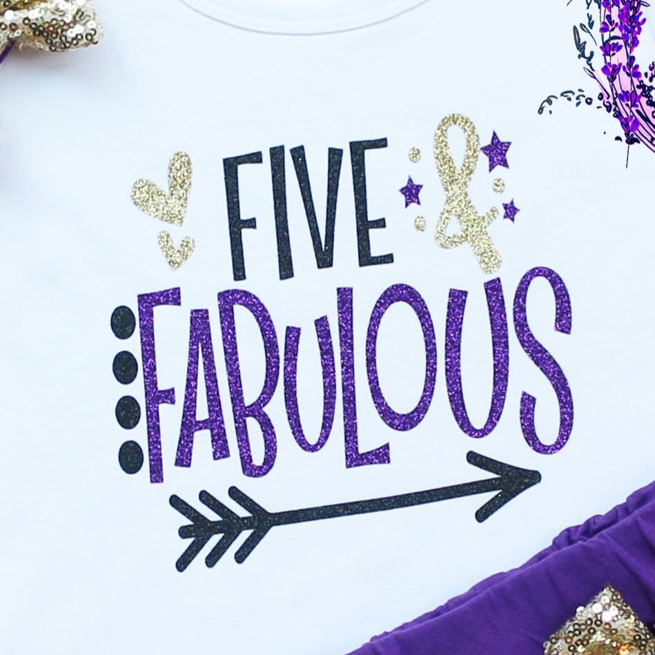 Five & Fabulous Birthday Shorts Outfit