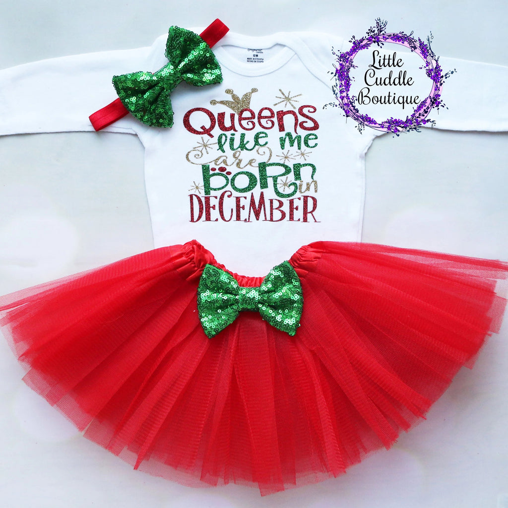 Queens Like Me Are Born In December Birthday Tutu Outfit