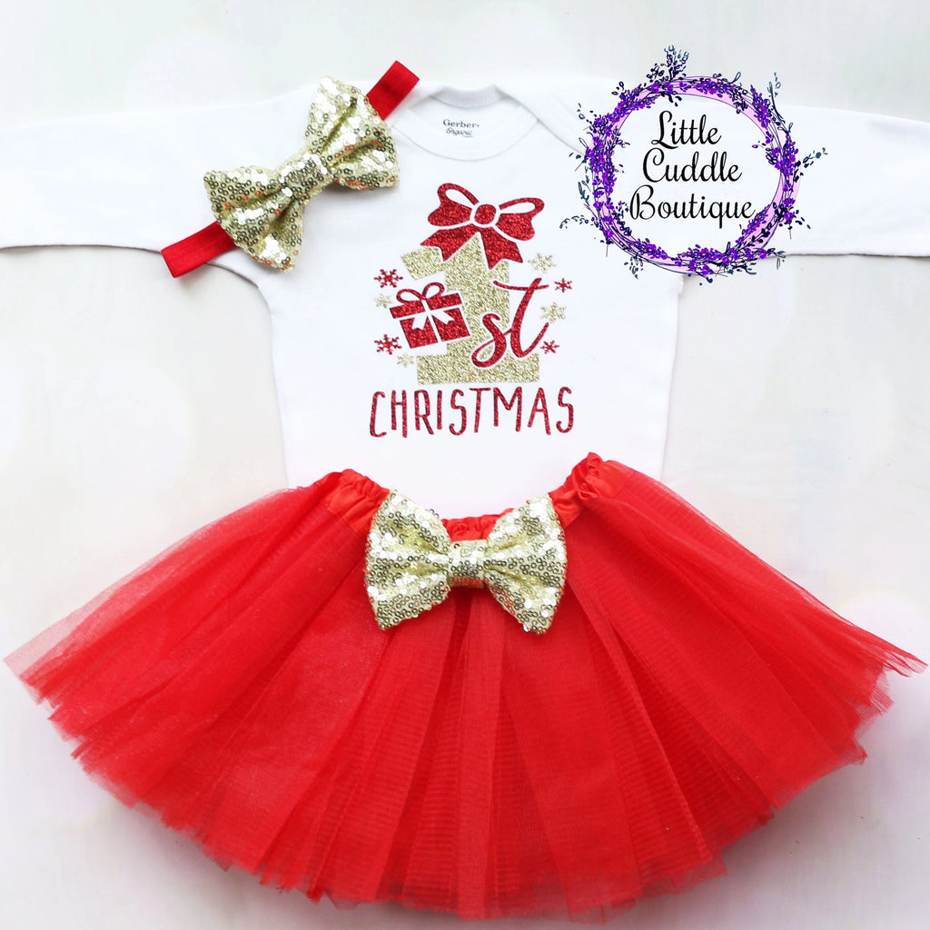 First Christmas Tutu Outfit