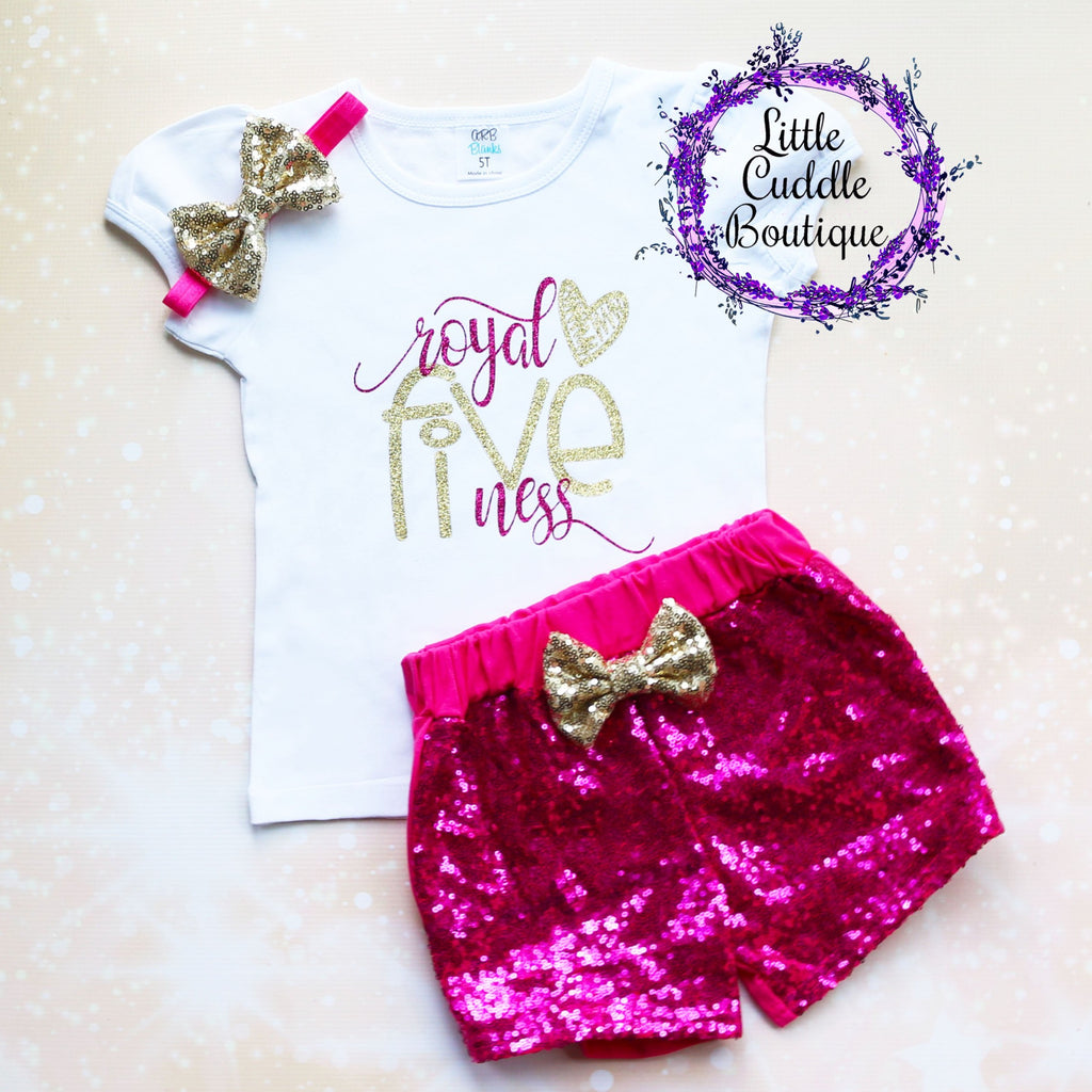 Royal Fiveneess 5th Birthday Shorts Outfit