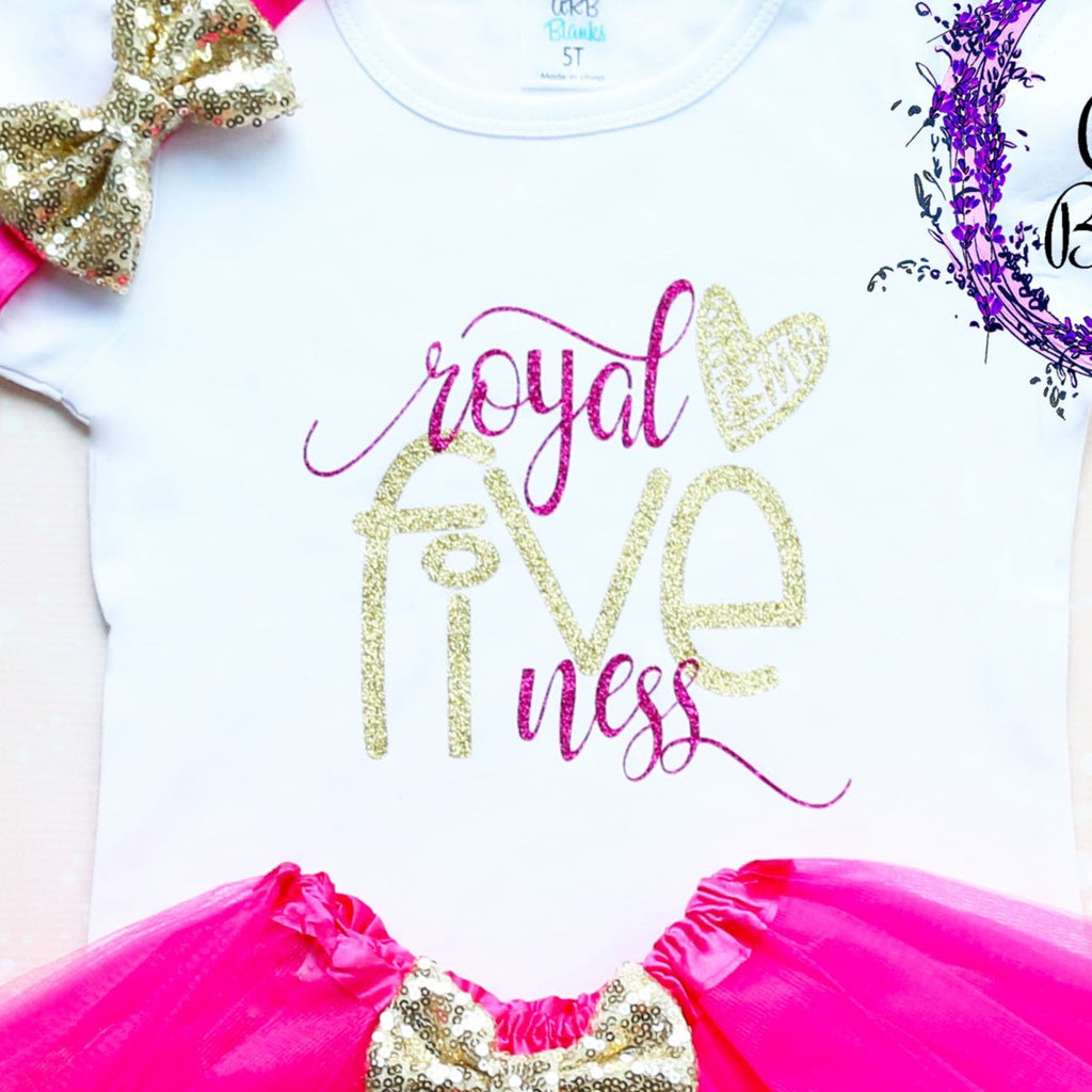 Royal Fiveness 5th Birthday Tutu Outfit