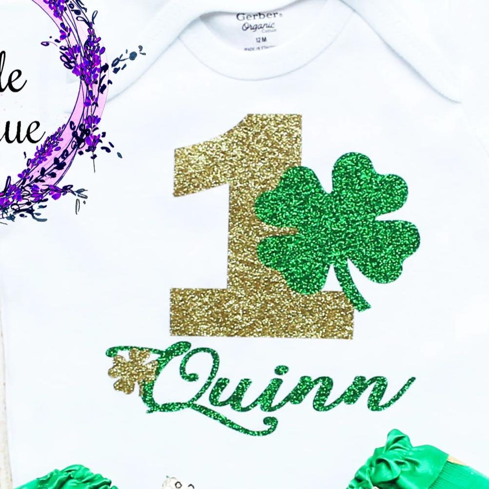 Personalized St. Patrick's Day Birthday Tutu Outfit