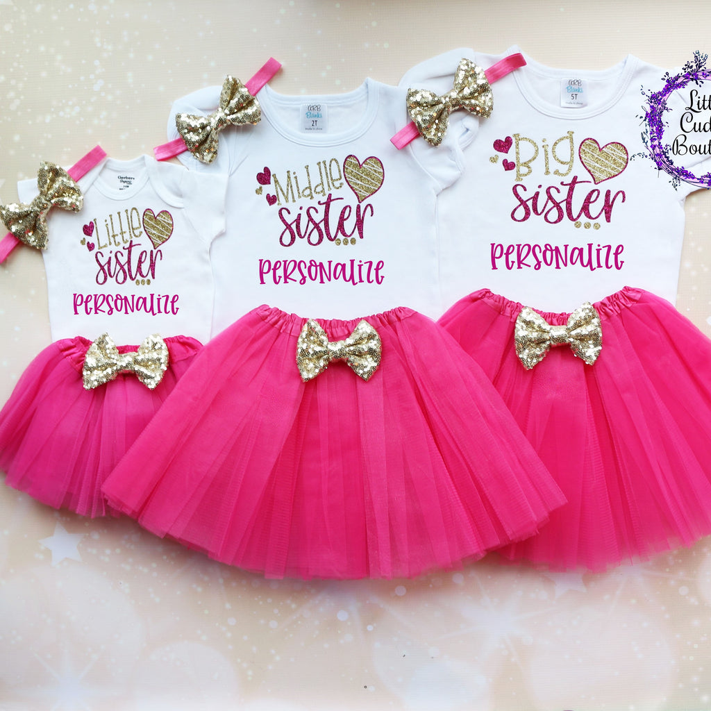 Big Sister Middle Sister Little Sister Tutu Outfits
