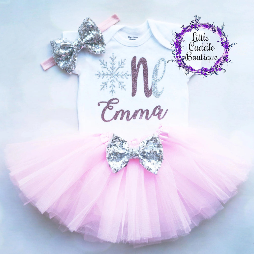 Personalized Winter Wonderland Birthday Tutu Outfit