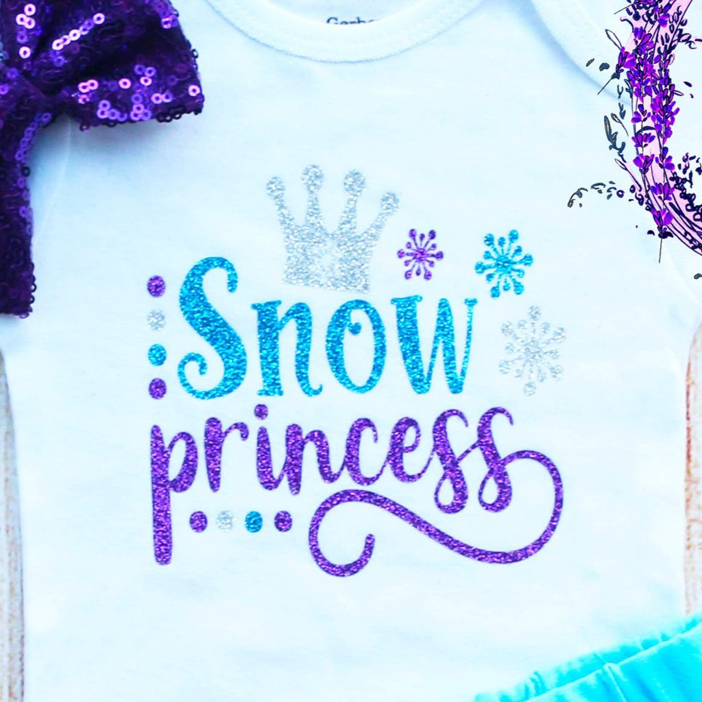 Snow Princess Baby Shorts Outfit