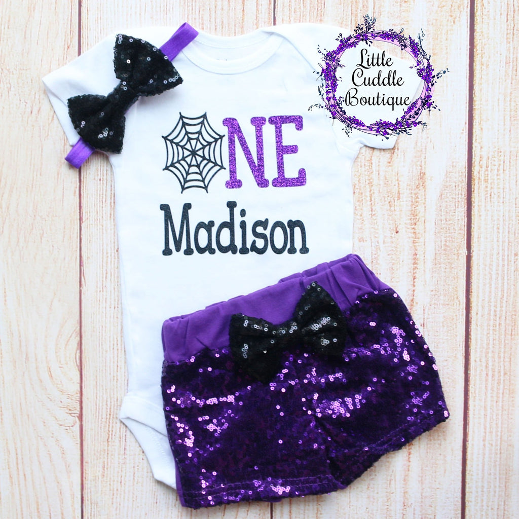 Personalized Halloween First Birthday Outfit