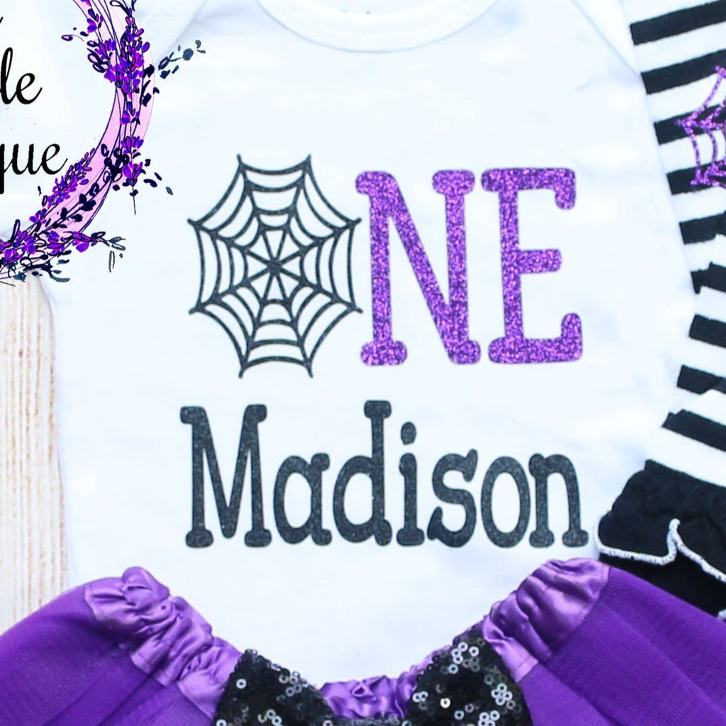 Personalized Spider Web Birthday Outfit