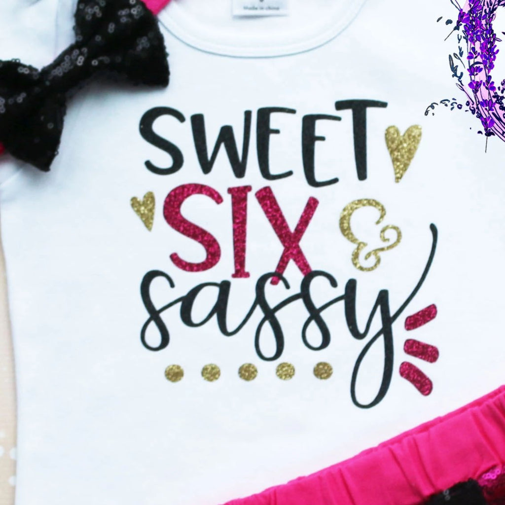 Sweet Six & Sassy Birthday Shorts Outfit