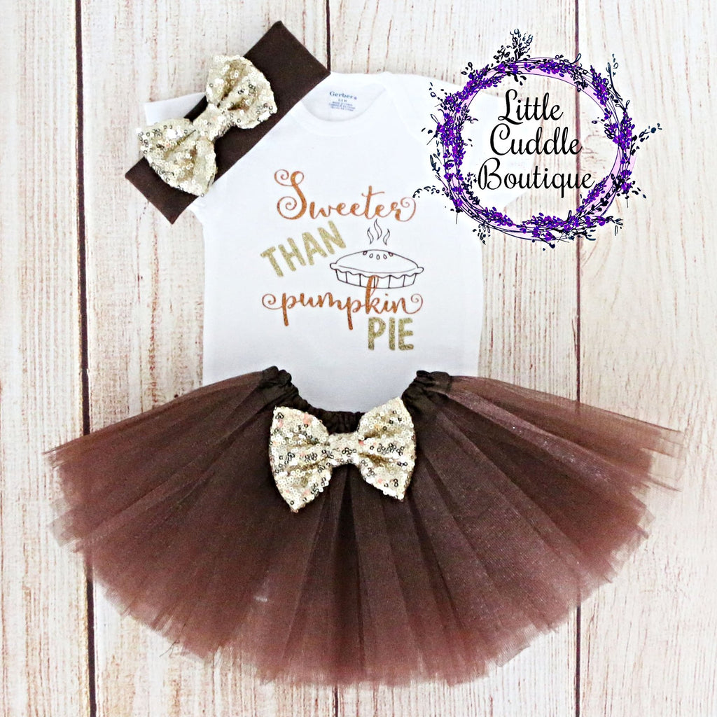Sweeter Than Pie Baby Baby Tutu Outfit