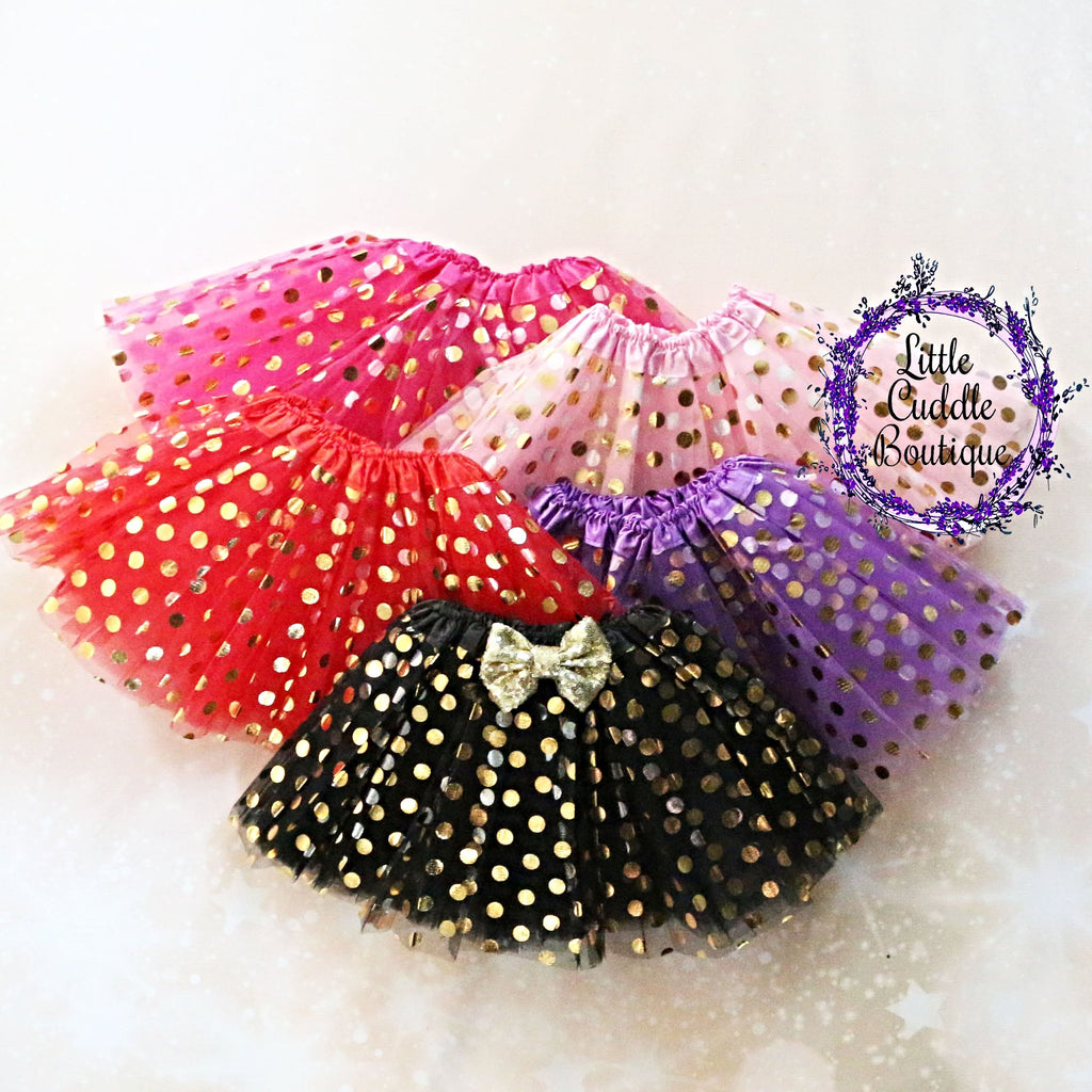 Gold Polka Dot Toddler Tutu
