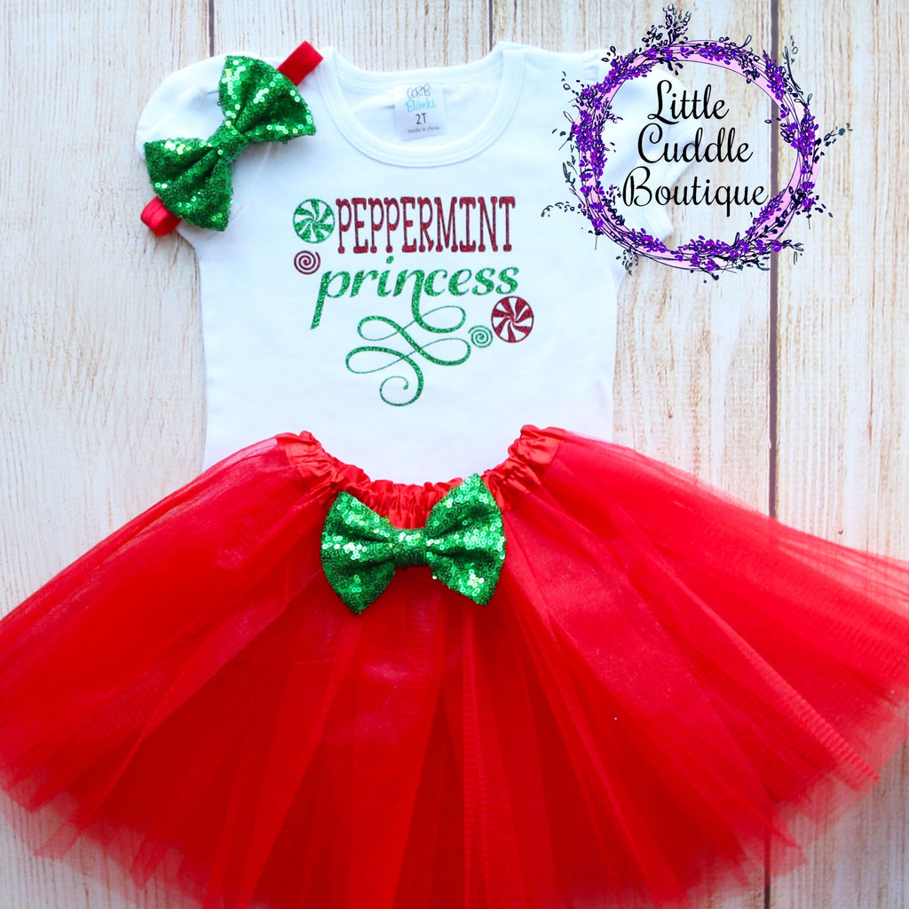Peppermint Princess Toddler Tutu Outfit