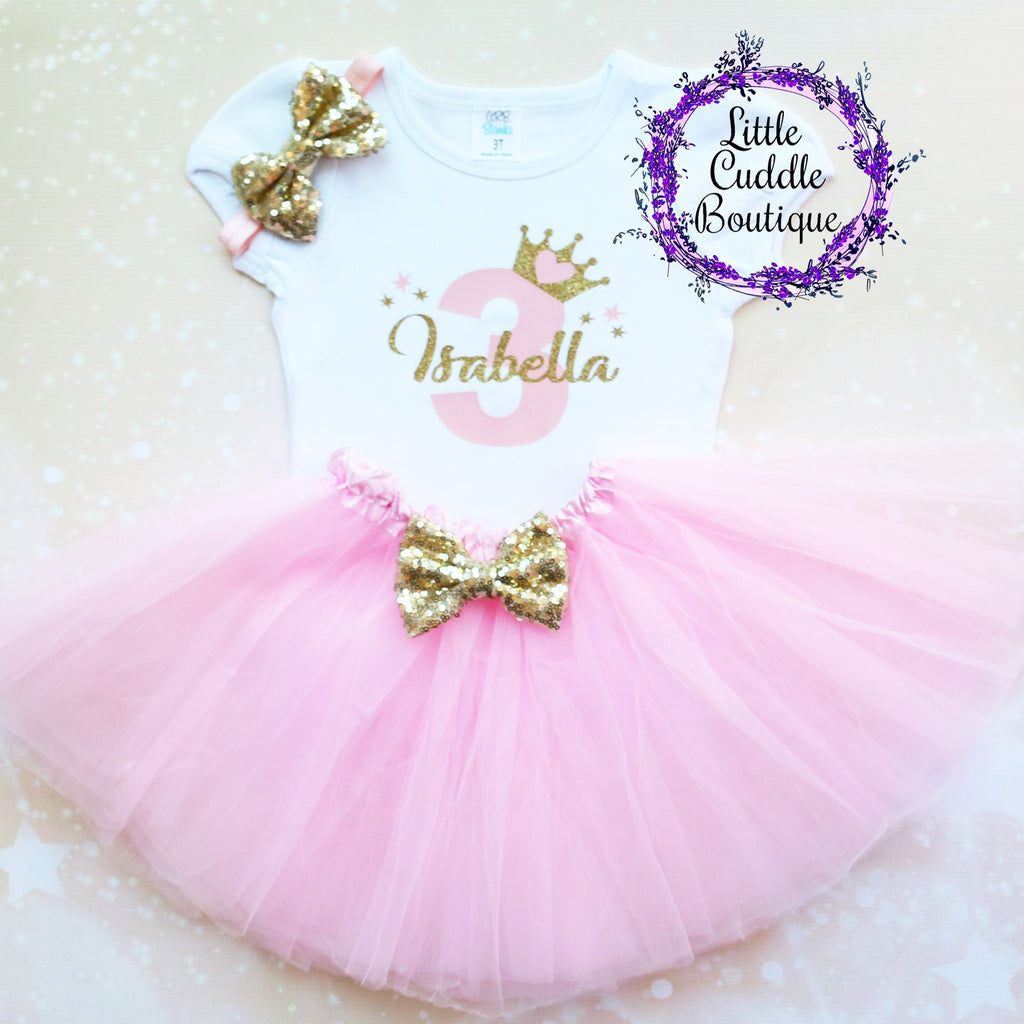 Personalized Toddler Princess Birthday Tutu Outfit-Any Age