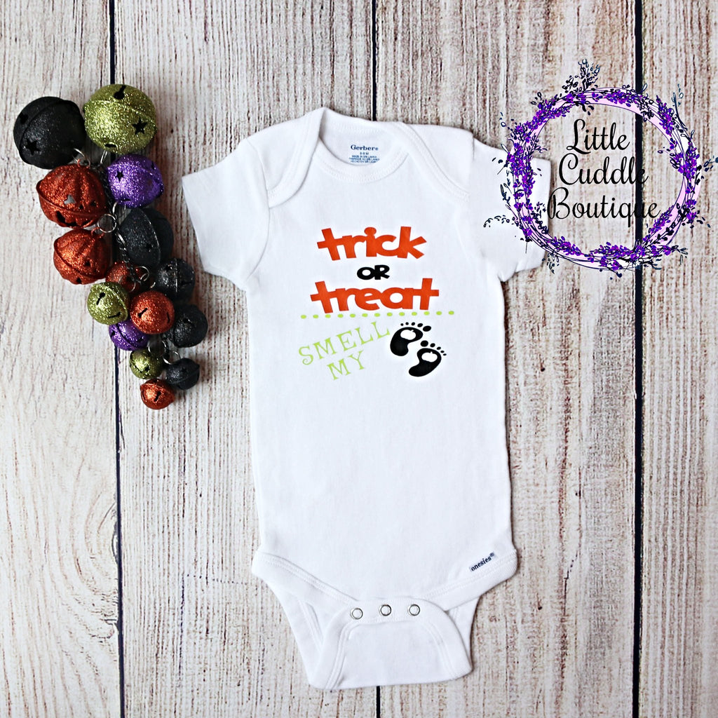 Trick or Treat Smell My Feet Bodysuit