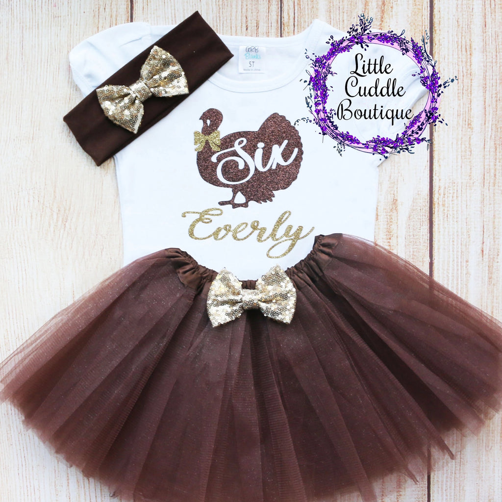 Personalized Toddler Thanksgiving Tutu Outfit