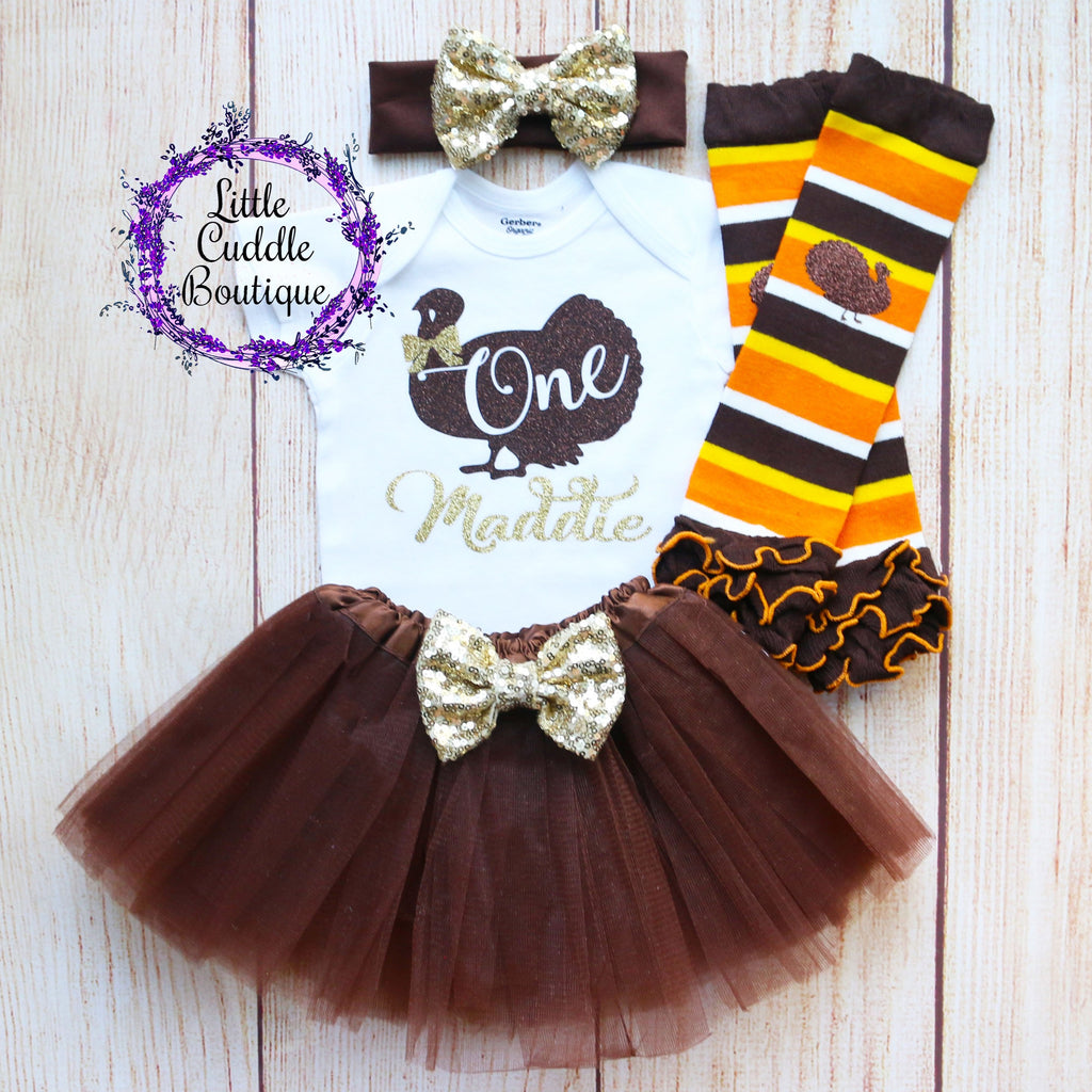 Personalized Turkey Birthday Tutu Outfit