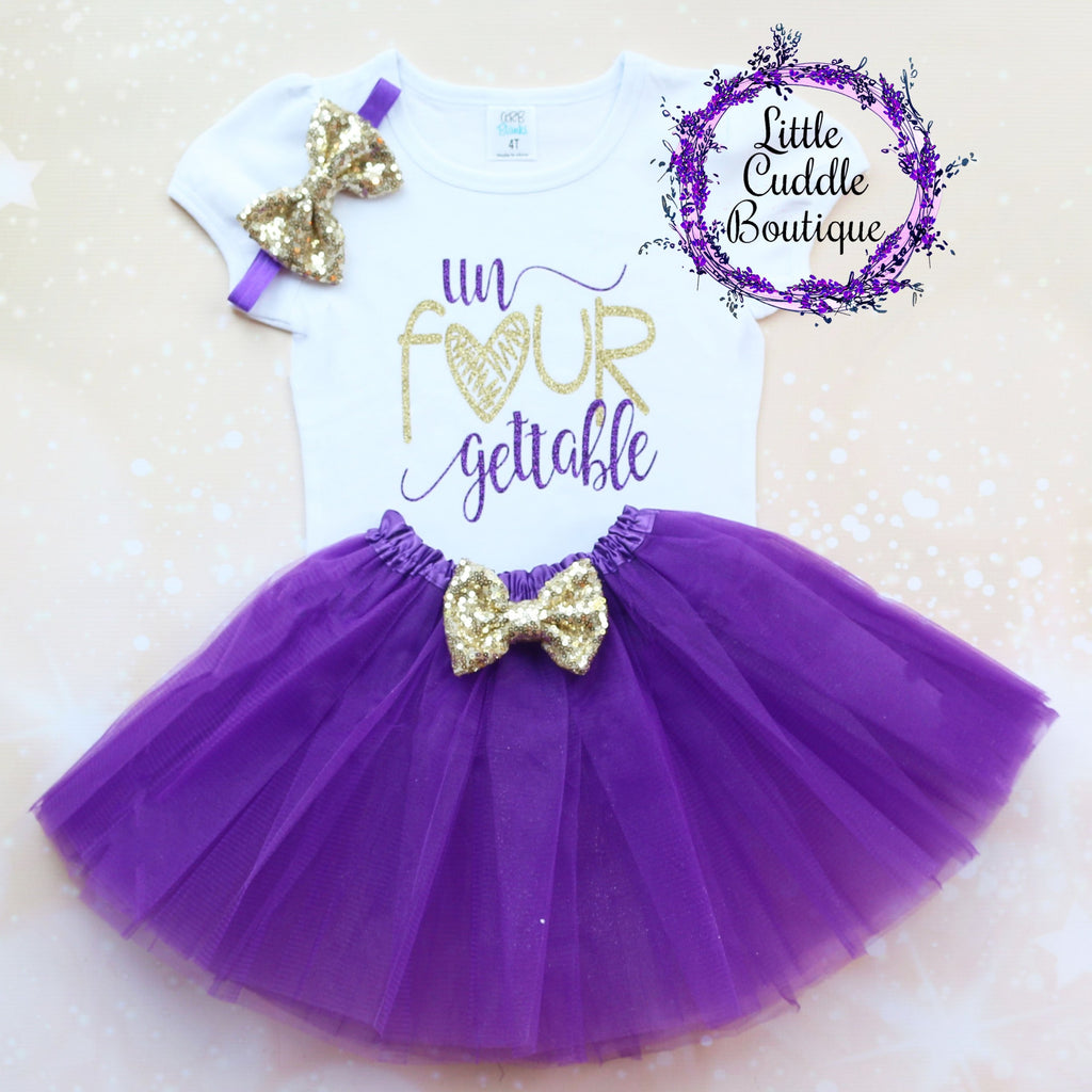 Un Four Gettable 4th Birthday Tutu Outfit
