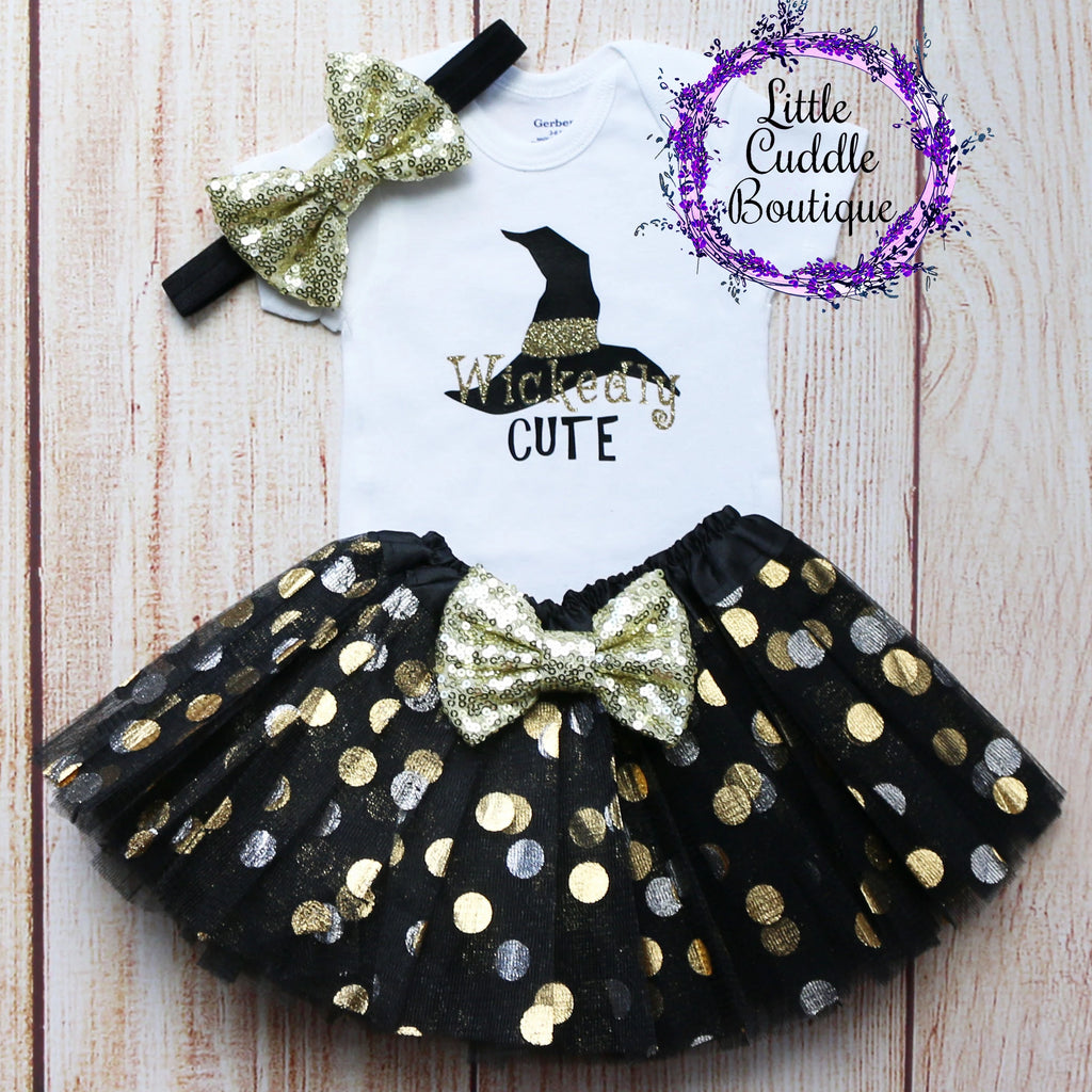Wickedly Cute Baby Tutu Outfit
