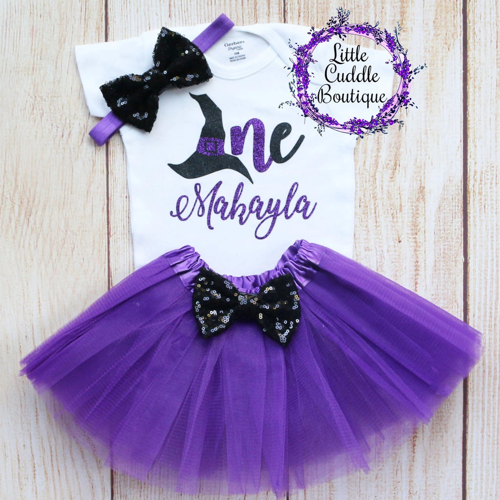 Personalized Witch First Birthday Tutu Outfit