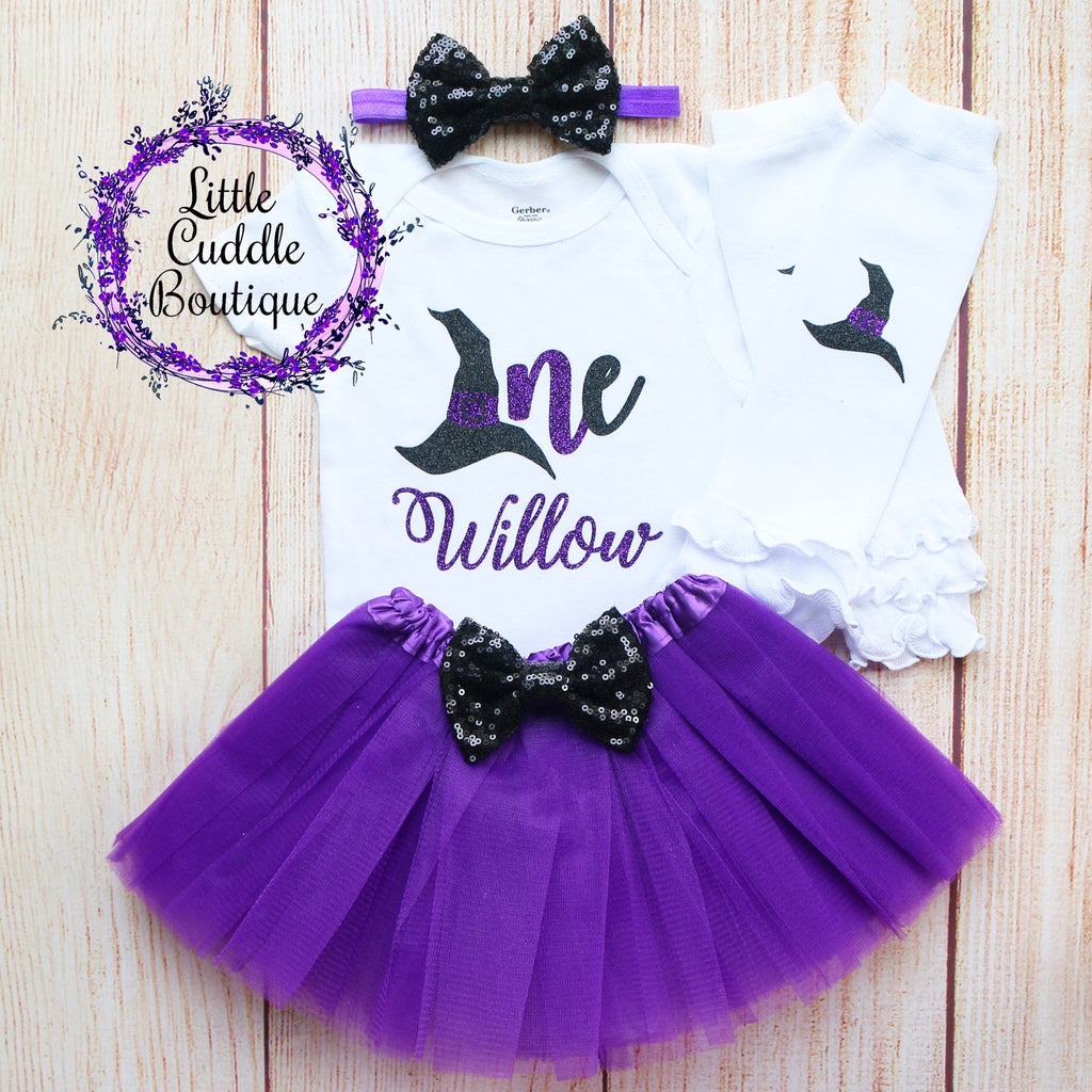 Personalized Witch Birthday Tutu Outfit