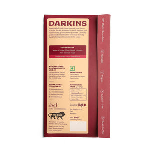 70% Dark Chocolate- Single Origin cacao from Andhra Pradesh - Darkins Chocolates