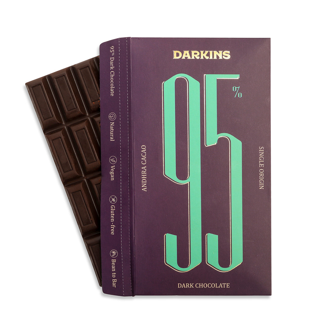 95% Single Origin Dark Chocolate- Andhra - Darkins Chocolates