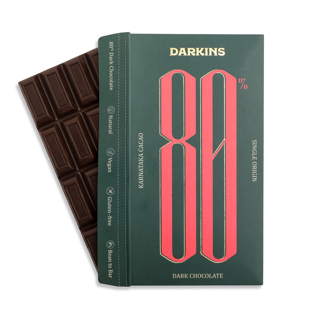 80% Single Origin Dark Chocolate- Karnataka - Darkins Chocolates
