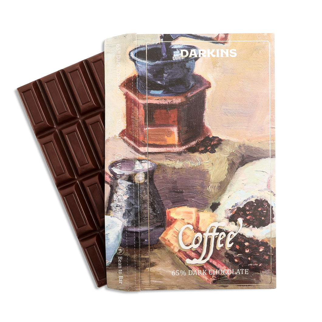 65% Dark Chocolate with Coffee - Darkins Chocolates