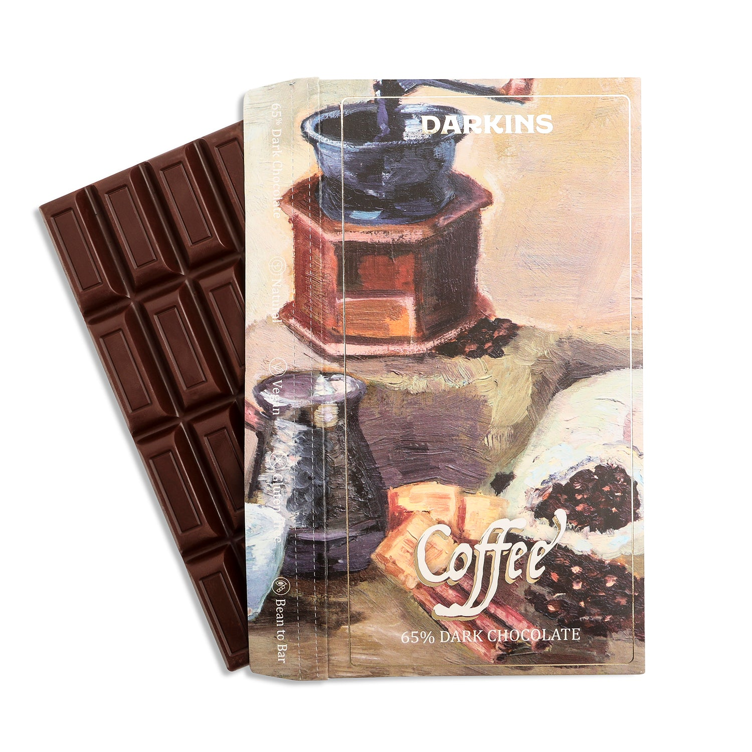 Load image into Gallery viewer, 65% Dark Chocolate with Coffee - Darkins Chocolates
