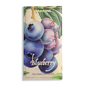70% Dark Chocolate with Blueberries - Darkins Chocolates