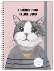 Feline Good Undated Planner Notebook