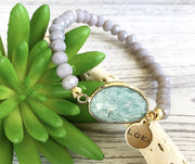 Amazonite Faceted Beaded Bracelet