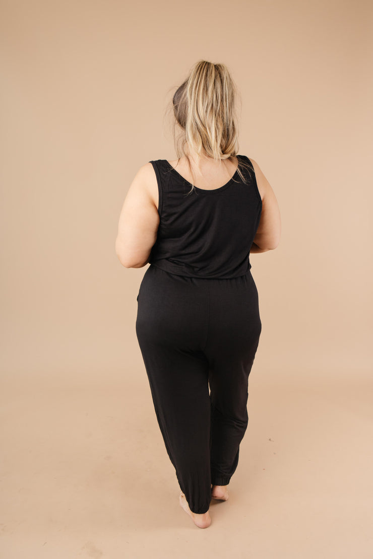 Jump In Jumpsuit In Black