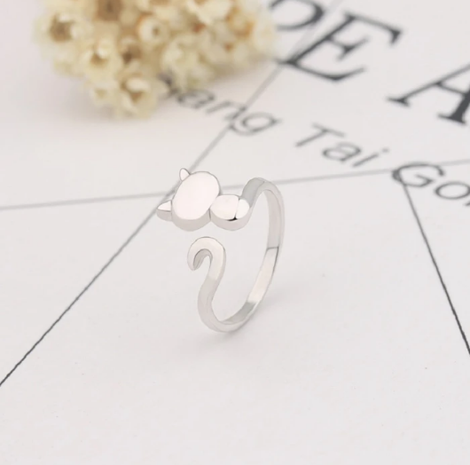 Cat Open Ring